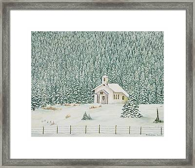 Peace In The Mountains Framed Print by Mary Ann King
