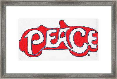 Peace Is The Word Framed Print