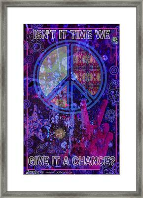 Peace Framed Print by John Goldacker