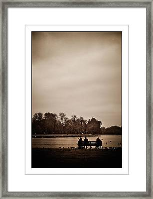 Framed Print featuring the photograph Peace by Lenny Carter