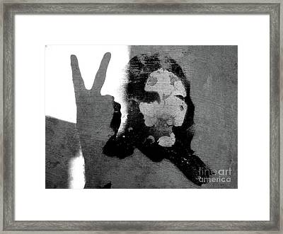 Peace Man Peace Framed Print by Joe Jake Pratt