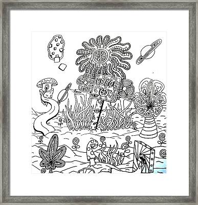 Peace Sign Framed Print by Andrew Padula