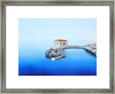 Peaceful Adriatic  Framed Print by Larry Cirigliano