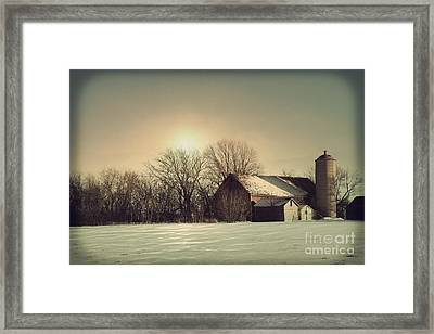 Peaceful Barn Framed Print by Joel Witmeyer