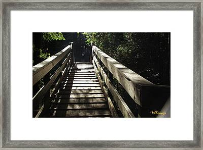 Peaceful Bridge Framed Print by Margaret Buchanan