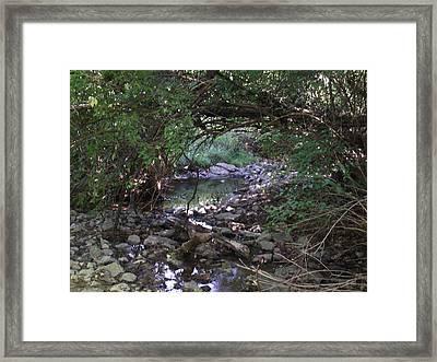Peaceful Creek 2 Framed Print by Katherine Woods