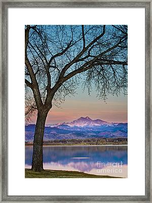 Peaceful Early Morning Sunrise Longs Peak View Framed Print by James BO  Insogna