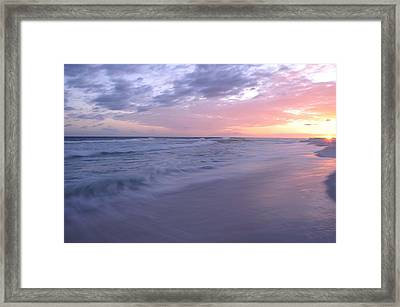 Framed Print featuring the photograph Peaceful Evening by Renee Hardison