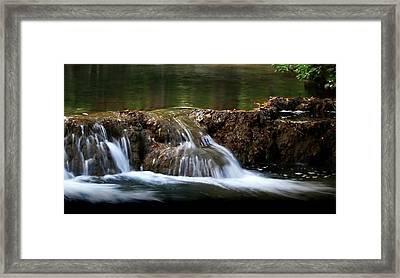 Peaceful Falls Framed Print by Karen Harrison