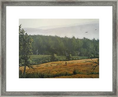 Peaceful Mountain Framed Print by James Guentner