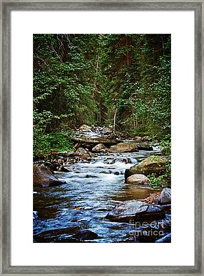 Peaceful Mountain River Framed Print by Lisa Holmgreen