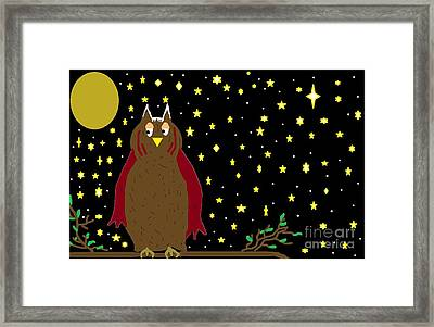 Peaceful Night In Hooterville Framed Print