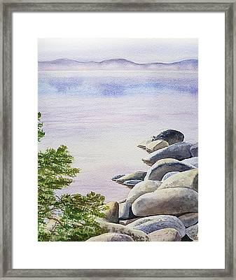 Peaceful Place Morning At The Lake Framed Print by Irina Sztukowski