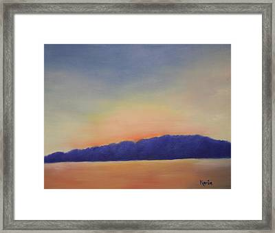 Peaceful Pond Framed Print by Karin Eisermann