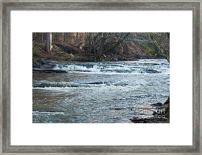Peaceful River Framed Print by Michael Waters