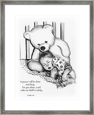 Peaceful Sleep Framed Print by Joyce Geleynse