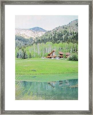 Peaceful Star Valley Wyoming Framed Print by Shawn Hughes