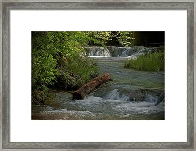 Peaceful Stream Framed Print by Cindy Rubin