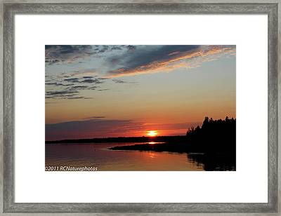 Framed Print featuring the photograph Peaceful Sunset by Rachel Cohen