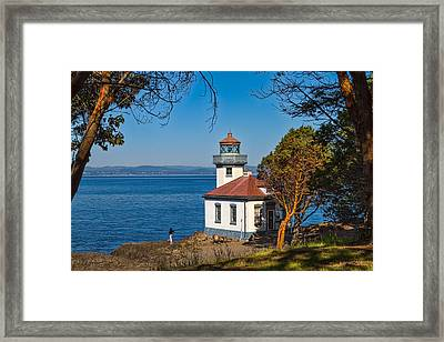 Peaceful Thinking Framed Print by Ken Stanback