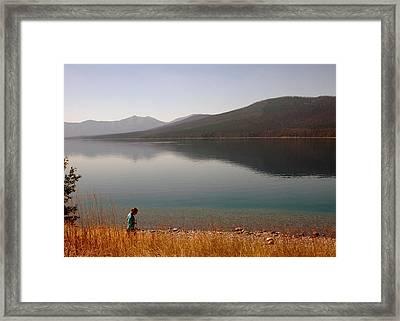Peaceful Walk Framed Print by Jonathan Schreiber
