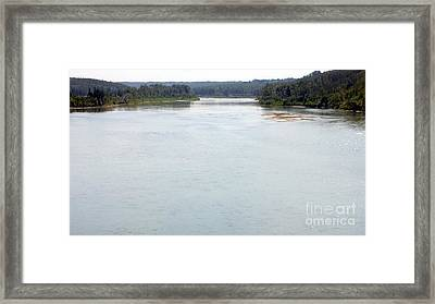 Framed Print featuring the photograph Peaceful Waters by Jim Sauchyn