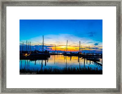 Peacefull Sunset Framed Print
