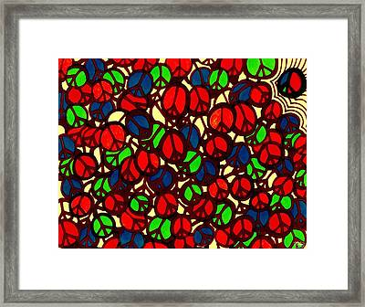 Peace's Of The Puzzle Framed Print