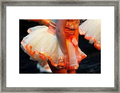 Peach Tutu Framed Print by Lauri Novak