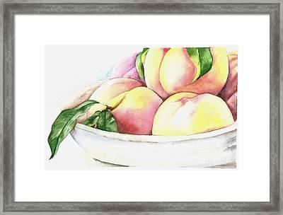 Peaches Framed Print by Elizabeth York