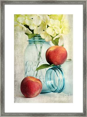 Peachy Framed Print by Darren Fisher