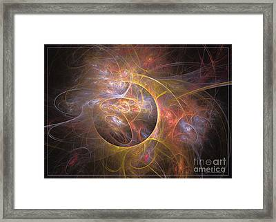 Peacock - Abstract Art Framed Print