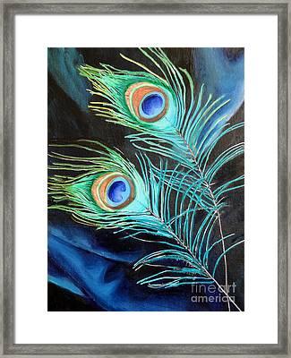 Peacock Beauties Framed Print