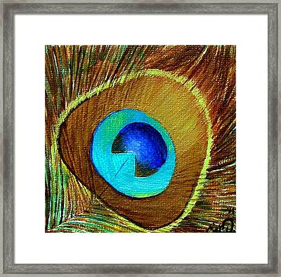 Peacock Feather 1 Framed Print