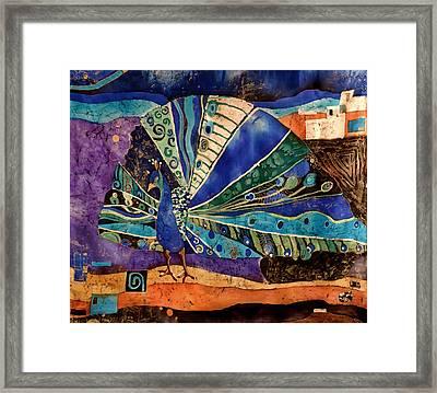 Peacock Framed Print by Sandra Kern