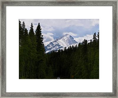 Peaking Peak Framed Print by Roderick Bley