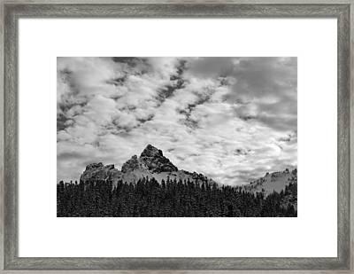 Peaks In The Tatoosh Range Framed Print