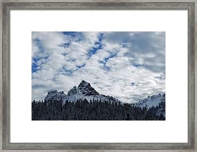 Peaks Near Mout Rainier Framed Print