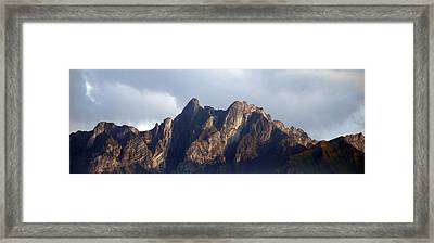 Framed Print featuring the photograph Peaks by Pravine Chester
