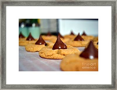 Peanut Blossoms Framed Print by Bonnie Myszka