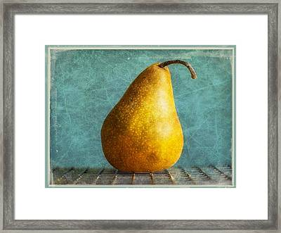 Pear Framed Print by Cathie Tyler