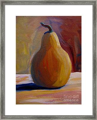 Framed Print featuring the painting Pear  by Gretchen Allen