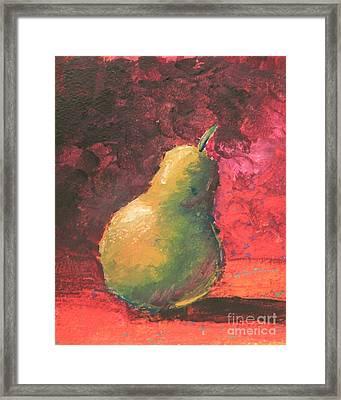 Pear Left Framed Print