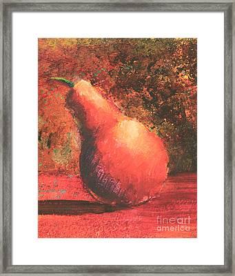 Pear Right Framed Print