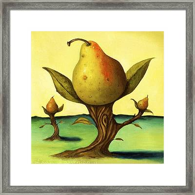 Pear Trees 2 Framed Print by Leah Saulnier The Painting Maniac