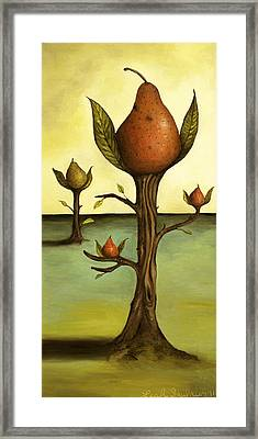 Pear Trees Framed Print by Leah Saulnier The Painting Maniac