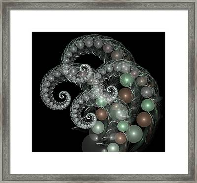 Pearl Curls Framed Print by Pam Blackstone