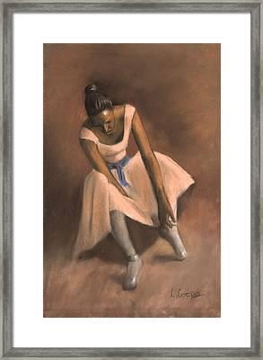 Pearl Joy Framed Print by L Cooper