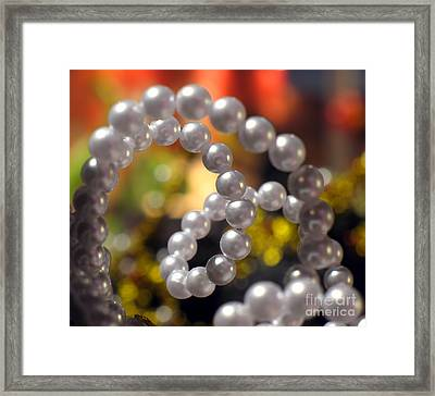 Pearl Ornament Framed Print