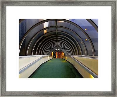 Pearl Street Walkover Framed Print by Richard Gregurich